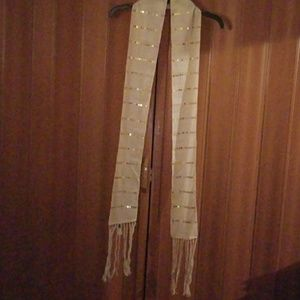 GAP Gold sequined scarf NWOT